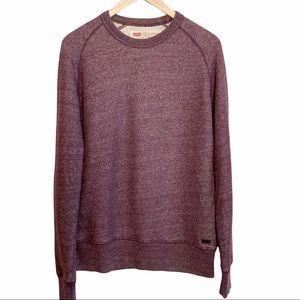 Levi's Oversized Heathered Purple Crewneck Sweatshirt